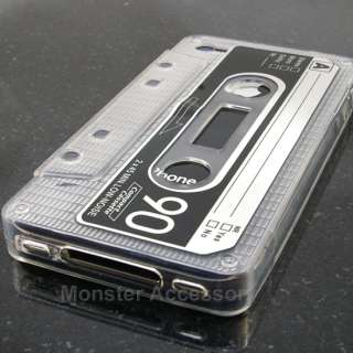 Clear Cassette Candy Skin TPU Gel Case Cover For Apple iPhone 4