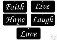 FAITH HOPE LIVE LAUGH LOVE STEEL SIGN IRON CHRISTIAN