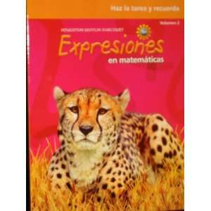 Math Expression, Grade 5 Homework & Remembering Workbook Houghton