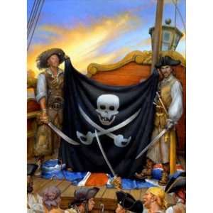 Wallpaper 4Walls Pirates and Skulls Jolly Roger KP1719EM2