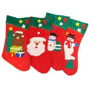 Club Pack of 144 Felt Christmas Stockings 16.5