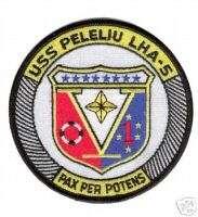 USN NAVY USS PELELIU LHA 5 MILITARY WAR CREW PATCH