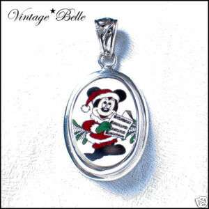 Broken China Spode Mickey Mouse Sterling Pendant
