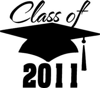 Class of 2011 Vinyl Wall Decal Words Letters Stickers