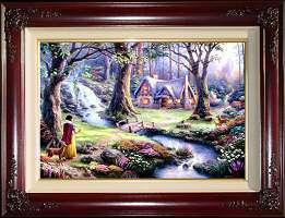 Thomas Kinkade Art Disney Snow White Classic Canvas