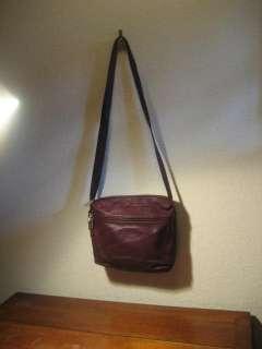 Tignanello BURGUNDY Soft Leather Bag Purse iPad Kindle Tablet