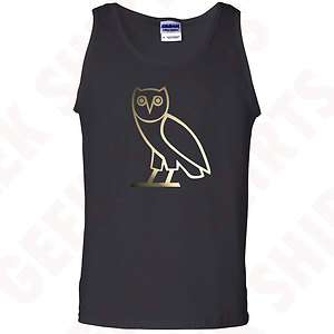 Octobers very own tank top shirt GOLD OVOXO owl YMCMB tee S 2X blk