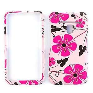 Flower Graphic Design Rubberized Hard Case Cell Phones & Accessories