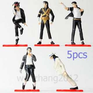 KING OF POP FOREVER MJ MICHAEL JACKSON FIGURE HOT 5pcs