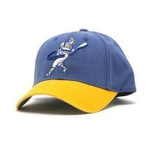 Milwaukee Brewers Retro Logo Pastime Cap   Royal/Yellow