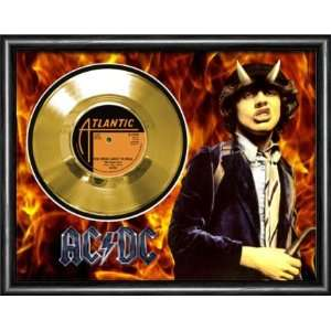 AC/DC For Those About To Rock Framed Gold Record A3
