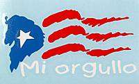 PUERTO RICO  MI ORGULLO FLAG DECALS STICKER