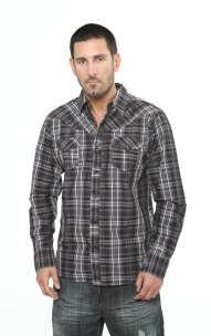 Indigo Star Fearless Heart Studded Cross Plaid Shirt