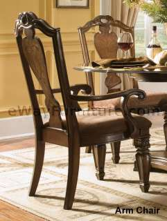 French Provincial Pedestal Dining Room Furniture Set Table Six Chairs