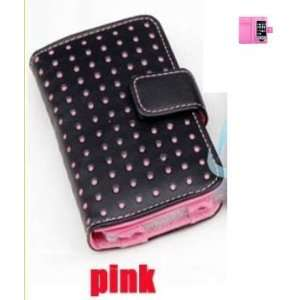Wallet Design Luxury Leather Case (Pink) for Ipod apple