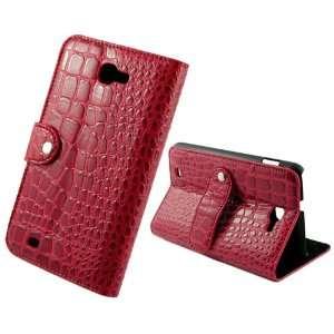 Luxury Unique Red Crocodile Design Wallet Leather Case