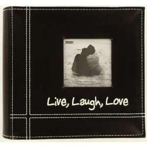 Embroidered Live, Laugh, Love 100 Pocket Frame Album