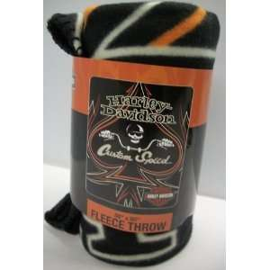 Harley Davidson Custom Speed 50 x 60 Fleece Throw