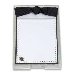 Palm Tree Paperie UCF Knights Black and Gold Polka Dot Bordered