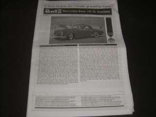25 Revell Mercedes Benz 190SL ROADSTER