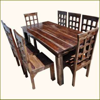 Wood Dining Room Table Chairs Set Furniture w Extension FREE SHIPPING