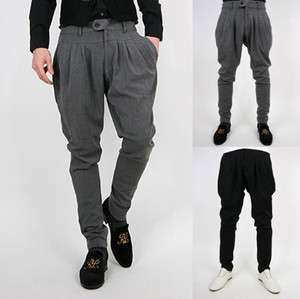 NWT Mens Stylish Fashion Casual SLIM FIT Pants Trousers H663 3Color