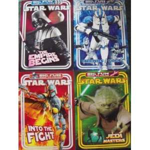 Star Wars Big Fun Book to Color Set of 4 (Friends & Foes