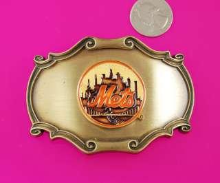 MLB New York Mets Metal Belt Buckle