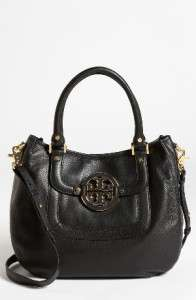 NWD TORY BURCH AMANDA Black LEATHER HANDBAG PURSE TOTE SATCHEL $465