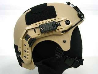 Airsoft IBH Helmet with NVG Mount & Side Rail Tan