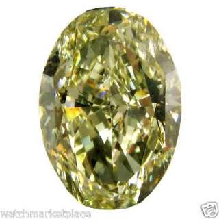 13 Carat Fancy Yellow Oval Brilliant Cut Diamond VS2