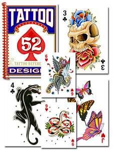 Tattoo Flash Mini Book with 52 Art Desgins Color NEW