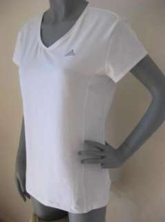 NEW Womens Adidas ClimaLite Work Out Athletic Running S/S Shirt Top Sz