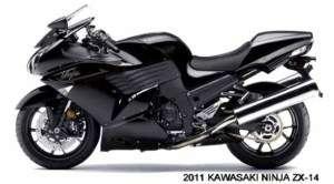 2011 KAWASAKI ~ NINJA ZX 14 MOTORCYCLE (BLACK) MAGNET