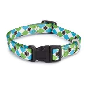 Casual Canine Nylon Pooch Pattern Dog Collar, 18 to 26