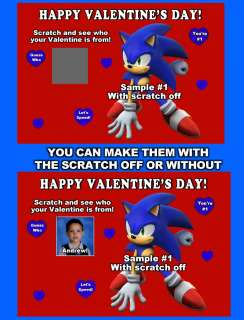 SONIC THE HEADGEHOG VALENTINES DAY CARDS *DISCOUNTS AVALIABLE FREE