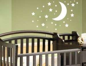 moon stars childrens nursery vinyl wall decal goodnight