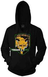 Metal Gear Solid Fox Hound Men Black Hoodie Sweater in USA