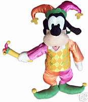 DISNEYS JESTER GOOGY STUFFED PLUSH BRAND NEW DOLL TOY