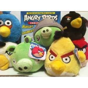 Angry birds Knock on wood game and red angry bird plush