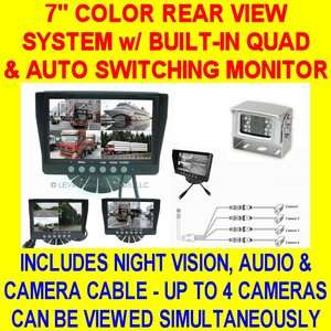 COLOR REAR VIEW BACKUP SYSTEM SAFETY CAR PICKUP TRUCK TRAILER
