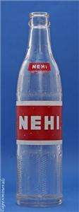 Vintage Nehi Soda Bottle 10 fl oz