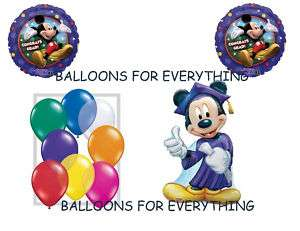 11 DISNEY MICKEY MOUSE GRADUATION PARTY BALLOONS SET