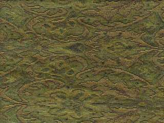 Kravet Green Red Gold French Damask Woven Drapery Upholstery Fabric
