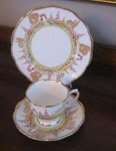 ROYAL ALBERT CROWN CHINA GREENWAYS TRIO CUP SAUCER PLATE NR