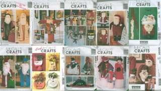 McCalls Christmas Door Porch Greeters Hanger Holiday Decoration Sewing