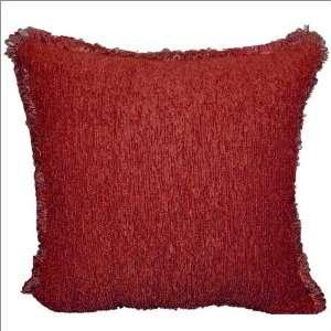 18 x 18 Veratex Rocco Pillow Set in Pomegranate