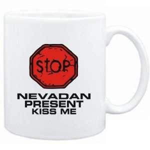 Mug White  STOP  Nevadan START KISSING  Usa States