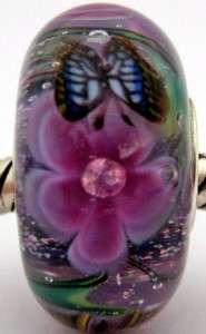 sterling silver core european charm lampwork glass bead SRA MWR