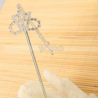 Stylish Crown style Rhinestone Alloy HairPin hair stick